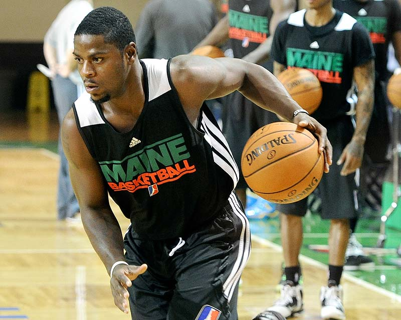 Raheem Singleton, a former UMaine guard, will open the season with the Maine Red Claws.