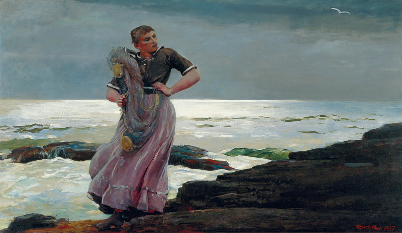 """""""A Light on the Sea,"""" painted in 1897 by Winslow Homer, from """"Weatherbeaten: Winslow Homer and Maine,"""" continuing through Dec. 30 at the Portland Museum of Art."""