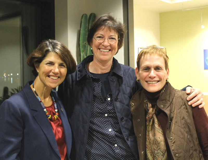 Barbara Grillo of Maine Medical Center, Julien Murphy of the University of Southern Maine, and Dr. Jacquelyn Hedlund.