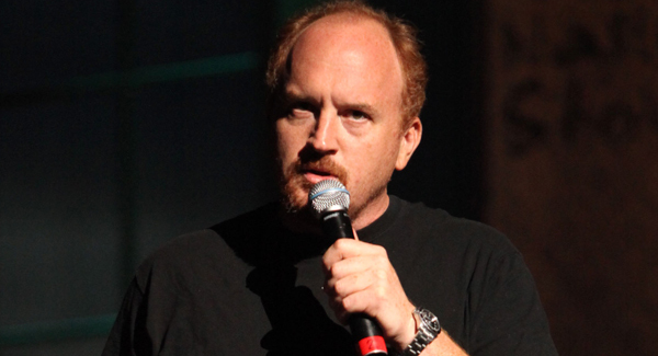 Comedian Louis C.K. performs a sold-out show at Merrill Auditorium in Portland on Wednesday.