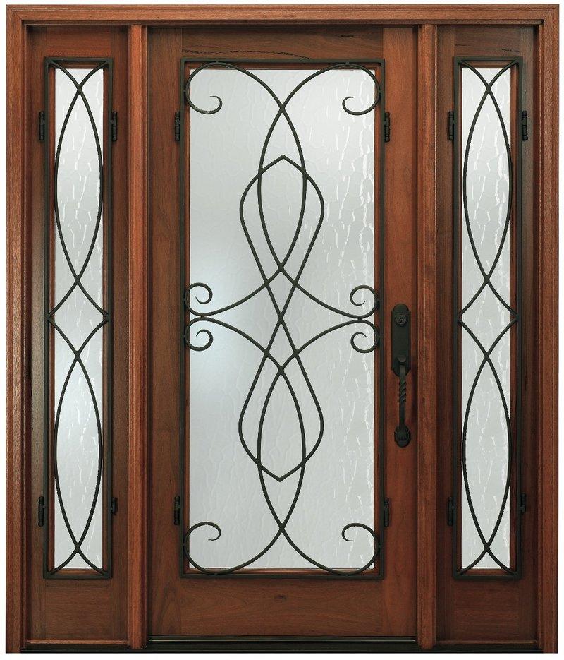 Pella's Wrought Iron Swirls door.