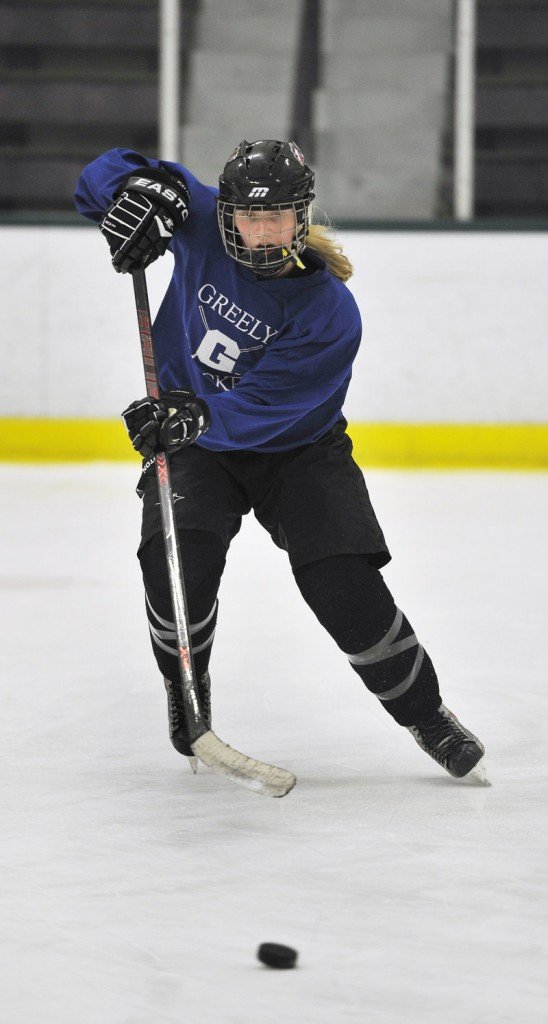Meg Finlay, a senior forward, missed part of last season because of an injury but has been one of Greely's top scoring threats since her sophomore year.