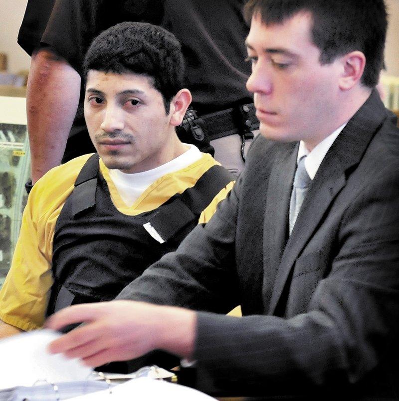 Juan Contreras and his lawyer, David Sanders.