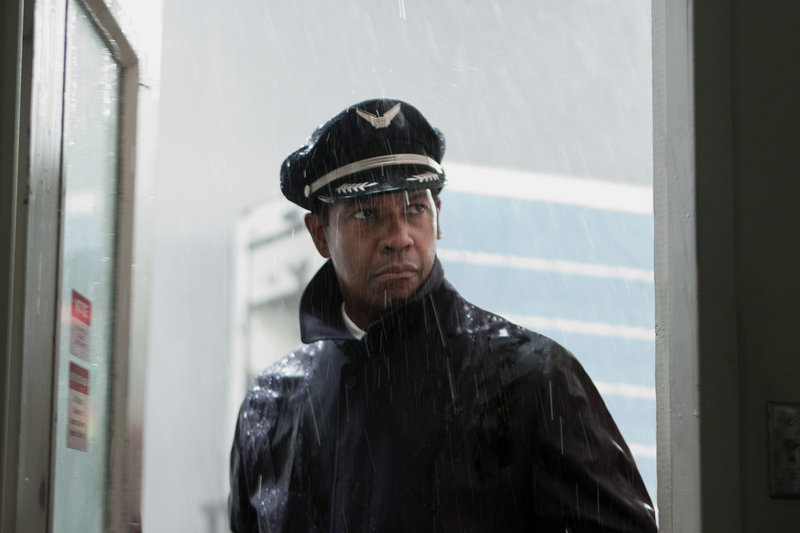 """Denzel Washington portrays Whip Whitaker in a scene from """"Flight."""" Washington plays an airline pilot who, despite being hungover, drunk and coked-up, lands a rapidly deteriorating plane."""