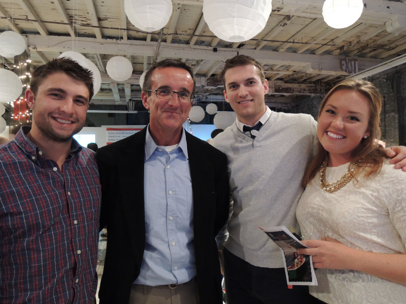 SailMaine volunteers Evan Sipert of Cape Elizabeth and Mitt Calder of South Portland; sailor Michael Candore of Washington, D.C.; and Charlotte Boymer, who was assistant director of the junior sailing program last summer. She also coaches the Falmouth High School sailing team.