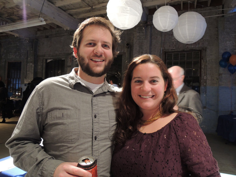 Portland residents Derek Lombard and Mali Welch, who works at Maine Magazine, the premier sponsor of the SailMaine Soiree.