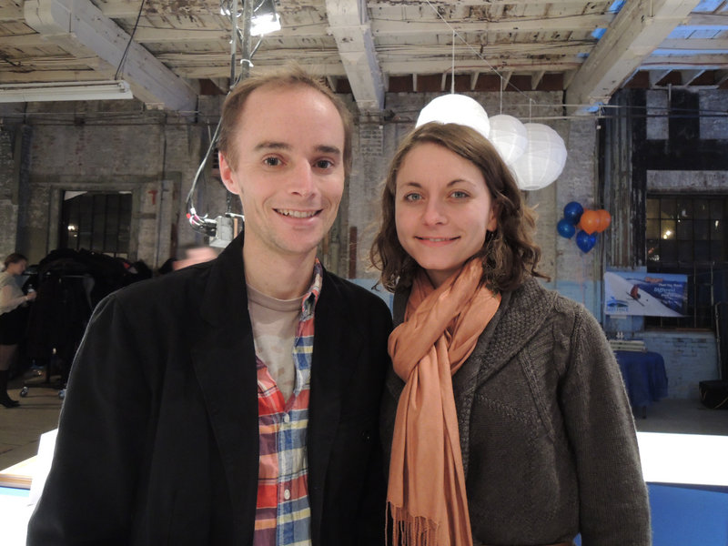 Nathaniel Baldwin and Erin Kiley, owners of the Portland Flea-for-All, donated a watch for the silent auction.