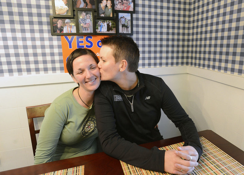 As soon as marriage licenses become available, Alissa Poisson and Maggie Oechslie plan to be first in line.