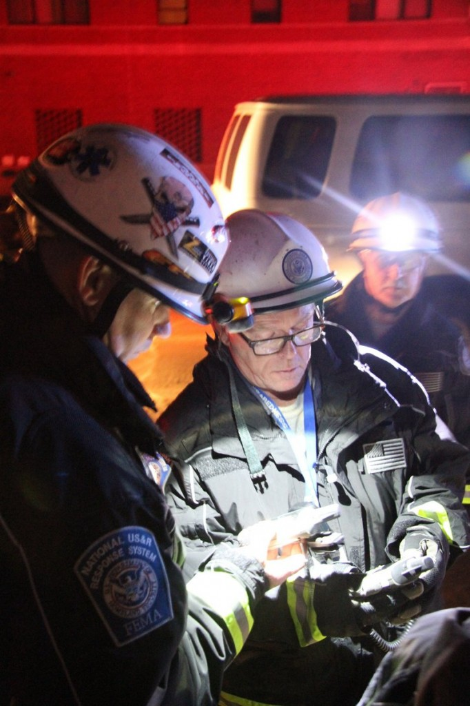 This image depicts some of the search-and-rescue operations conducted in Far Rockaway and Queens in New York in the aftermath of the hybrid storm that came crashing ashore at the end of October. Two Portland firefighters were part of the Massachusetts team that was assigned to help out in New York.