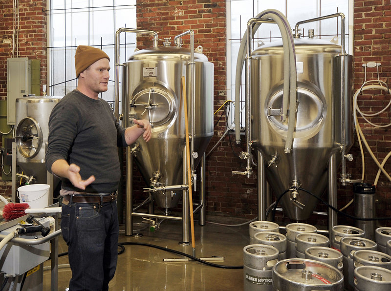 Chresten Sorensen, owner of Bunker Brewing, says he owns the smallest brewery in Maine, giving him the freedom to make whatever type of beer he feels like making.