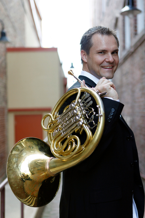 """Guest musician Jeff Nelsen will play a Strauss horn concerto at Sunday's """"Strauss & Stravinsky"""" concert. Timothy Myers is guest conductor."""