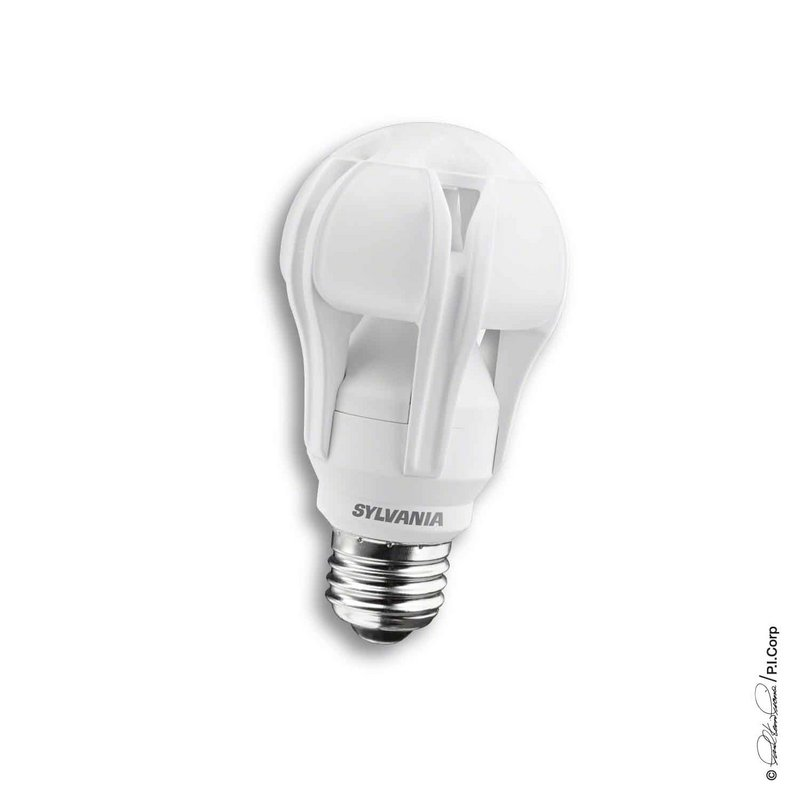 Osram Sylvania says this bulb that uses light-emitting diodes shines as brightly as regular 100-watt bulbs.