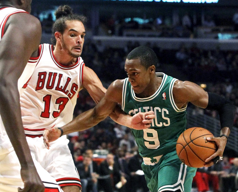 Rajon Rondo had another big night directing Boston's offense, missing a triple-double by one rebound. He finished with 20 points, nine rebounds and 10 assists.