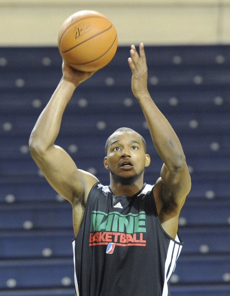 Chris Wright, who began last season in Maine, is back after being waived by the Toronto Raptors.