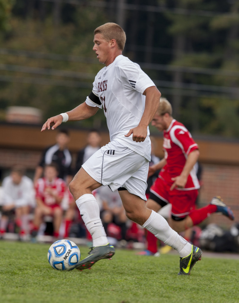 John Murphy isn't quite finished with his soccer season. The Bates senior and Yarmouth High grad will strut his stuff for professional scouts in January.