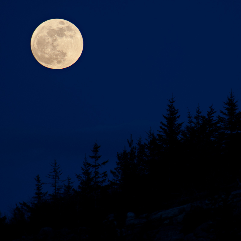 """Milk Moon (Acadia)"" by Jim Nickelson, archival digital print, at Jonathan Frost Gallery in Rockland."