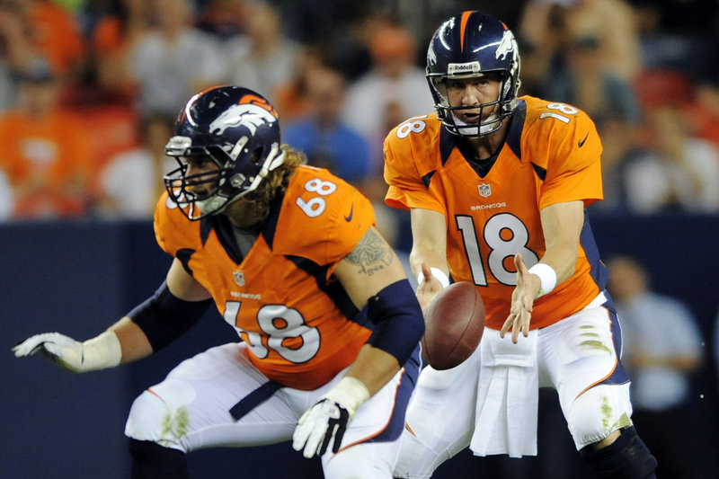 Peyton Manning can count on plenty of pass protection from an offensive line that includes Zane Beadles. The Denver quarterback has been sacked just 11 times.