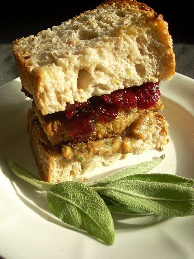 If you have leftover croquettes, use them to make a Thanksgiving sandwich using gravy and cranberry sauce.