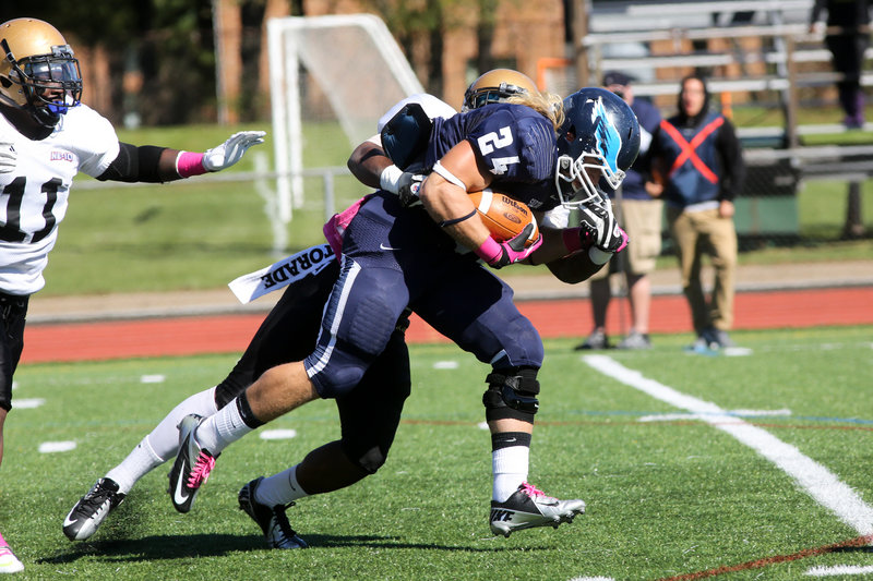 Jack Mallis, the Fitzpatrick Trophy winner for Windham in 2009, has continued driving forward at Southern Connecticut State, not just in the classroom (3.60 grade-point average) but scoring when the opportunity arises on the field, as well as strong special-teams play.
