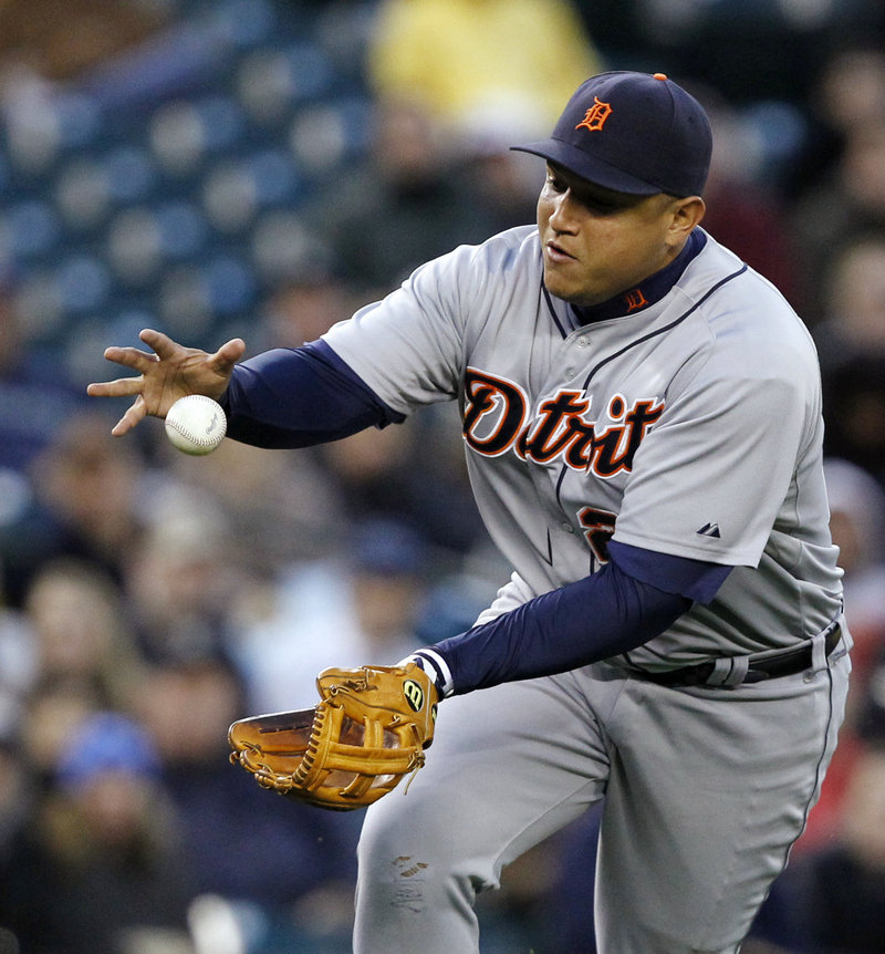 Miguel Cabrera, moving from first base to third, focused on fielding in spring training but when the season was over, had become the first Triple Crown winner since 1967.