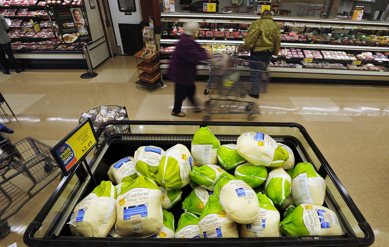 The average cost of feeding 10 people the 12 items typically served at Thanksgiving is expected to be up only slightly from last year.
