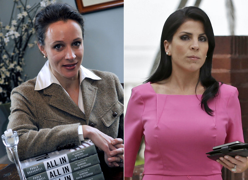 Former CIA Director David Petraeus' biographer and paramour Paula Broadwell, left, and Florida socialite Jill Kelley were caught up in the FBI investigation that ultimately led to Petraeus stepping down. The FBI commonly declines to pursue cyberstalking cases.