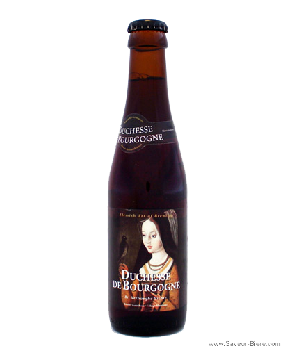 The Flemish Duchesse de Bourgogne, above, is a blend of beers aged in oak casks; the Italian Rubus beer, below, is a 5.8-percent alcohol brew made from fresh raspberries.