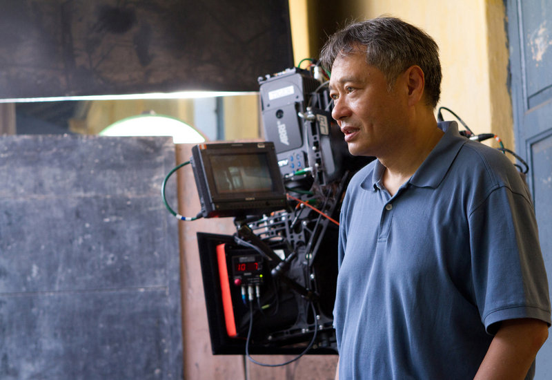 'Life of Pi' director Ang Lee on the set.