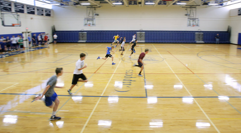 The basketball season may be a marathon, but for defending Class B champion Yarmouth High School, Monday's first day of practice still entailed plenty of sprints that should help keep the Clippers in shape for the long season ahead.