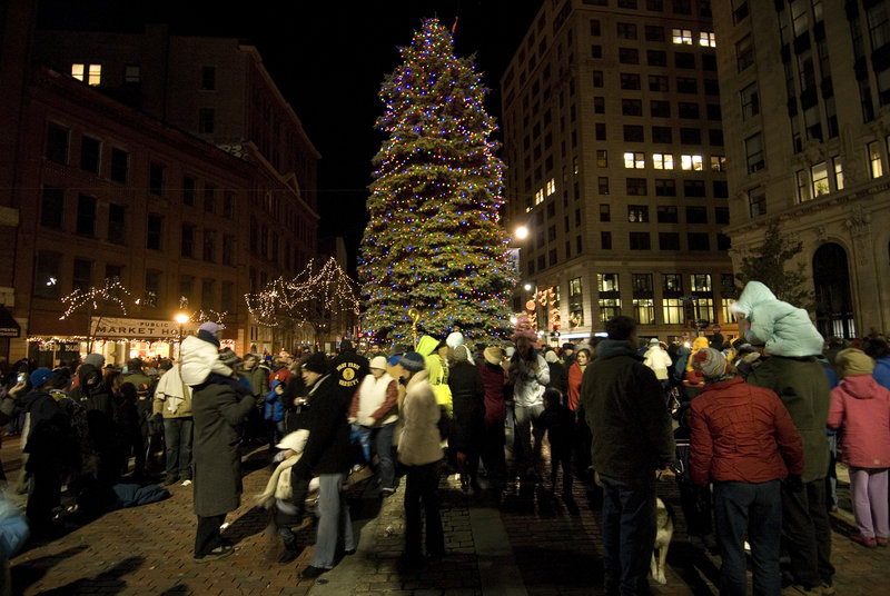 Portland's tree-lighting ceremony will begin at 5:30 p.m. Friday.