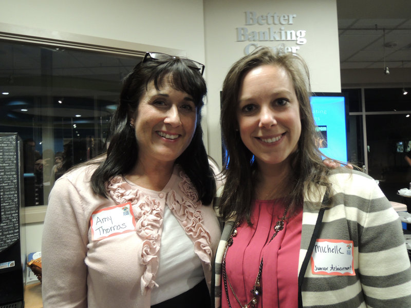 Amy Thomas, representing Sexual Assault Response Services of Southern Maine, and Michelle Anderson, representing Junior Achievement of Maine. Both organizations received $2,000 grants.