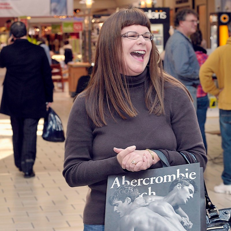 """Susan Perkins of Fairfield says she likes shopping at the Maine Mall when the crowds are smaller. """"There's already great sales,"""" she said Tuesday."""