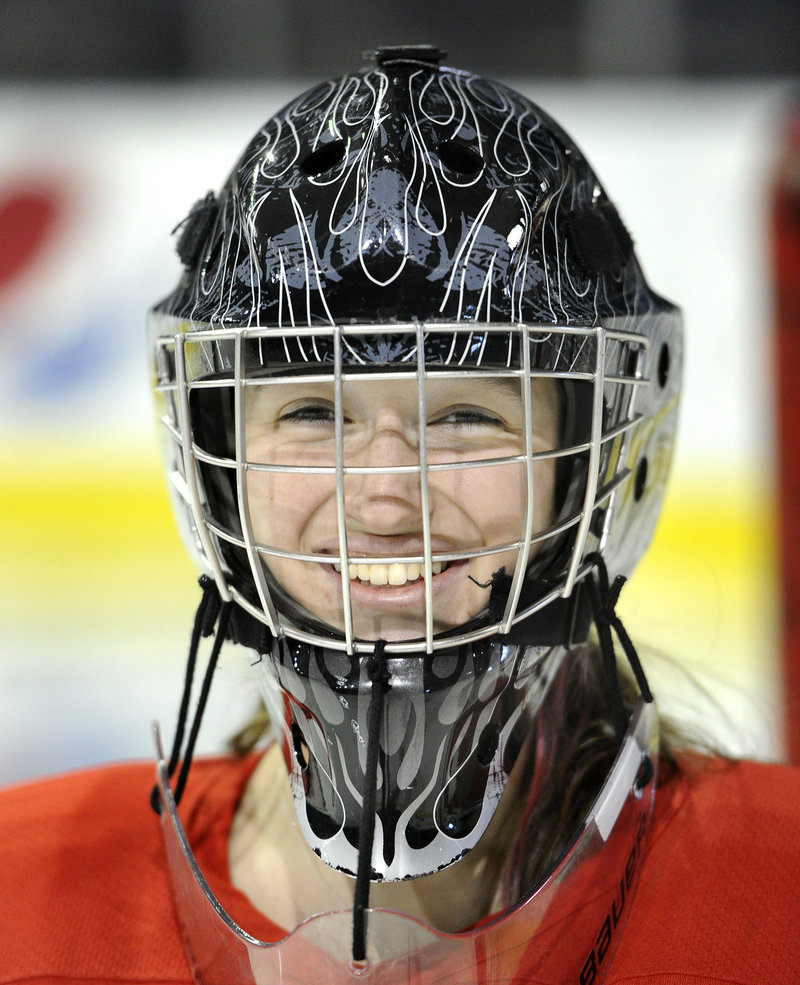 Devan Kane of Scarborough doesn't have to mask her feelings. If a goal is scored against her, she's immediately ready to stop the next shot.