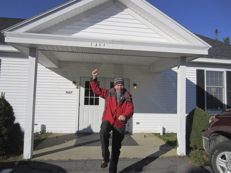 "Carl Little, a 58-year-old author and freelance art writer in Maine, does the ""Gangnam Style"" dance outside a fire station in Somesville on Nov. 6 to celebrate the fact that he had just voted. The dance, which originated in a music video by South Korean singer PSY, has become a symbol of fun and joy for people of all ages since its release last summer."
