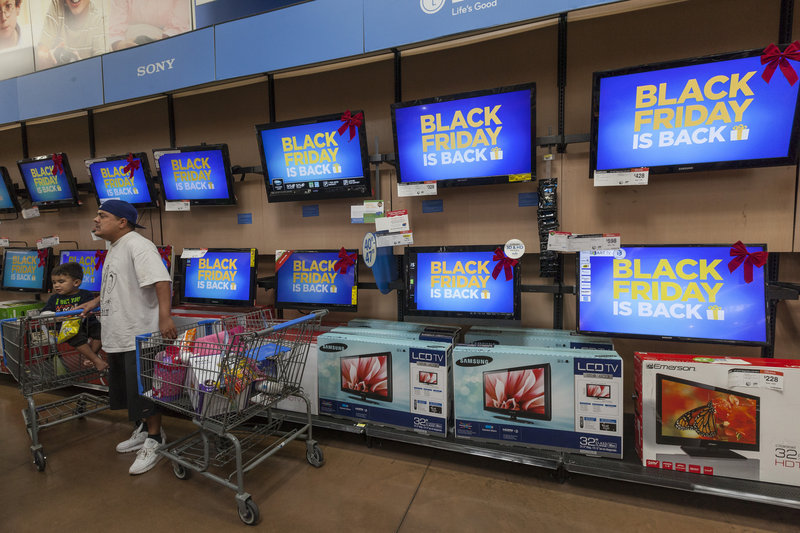 """Deep discounts on big-screen televisions make up many of the loss-leading, stampede-inducing """"doorbuster"""" items that shoppers will find on sale this Black Friday."""