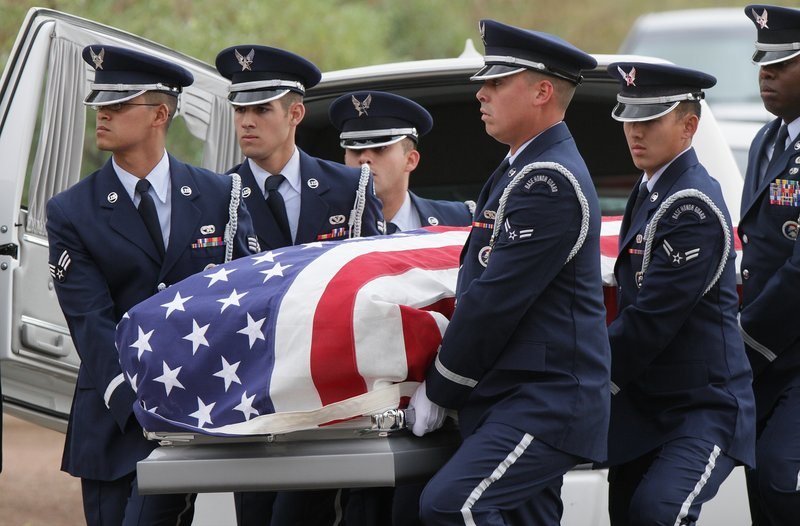 Sherman Hemsley's casket arrives Wednesday at Fort Bliss National Cemetery.