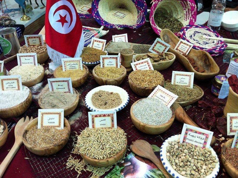 A wide variety of beans and grains grown in different regions of the world were on display at Terra Madre.