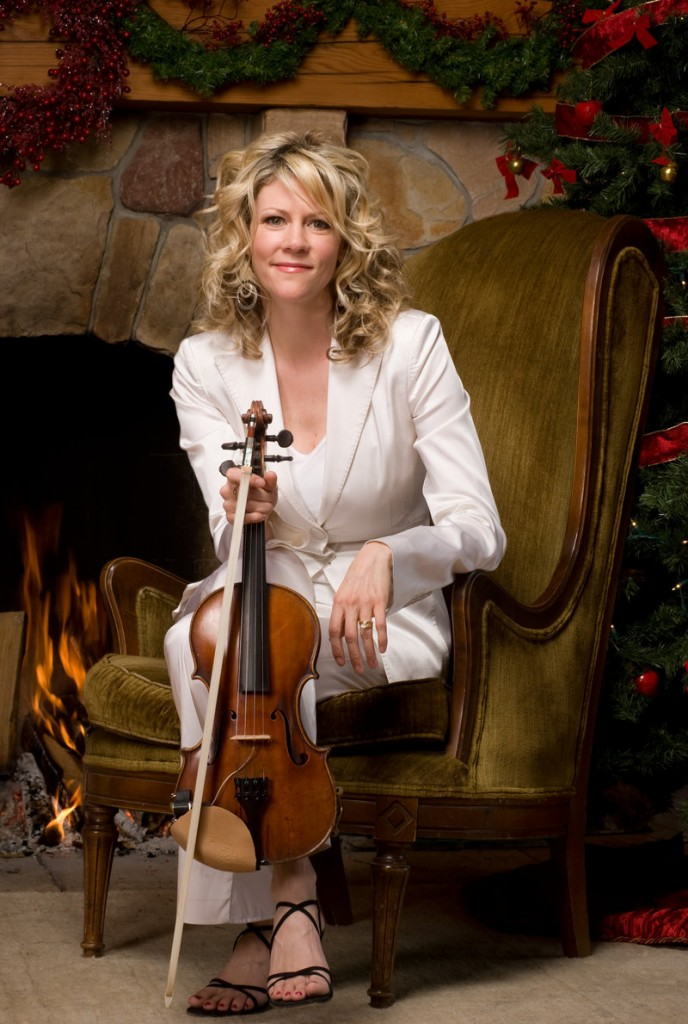 """Fiddler Natalie MacMaster performs a holiday concert, """"Christmas in Cape Breton,"""" on Tuesday at Merrill Auditorium in Portland."""