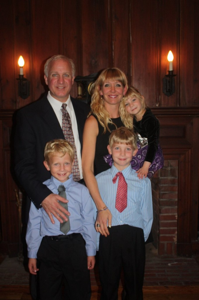 Matthew and Jennifer Lanigan with their three young children, Carter, 7, Bryce, 8, and Audrey, 4.