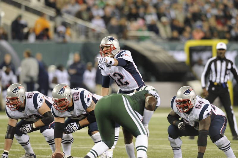 Tom Brady's bunch of protectors is a different cast as new faces have stepped up after veterans either got injured or were cut. But step up the new players have done as the quarterback has been well-protected.