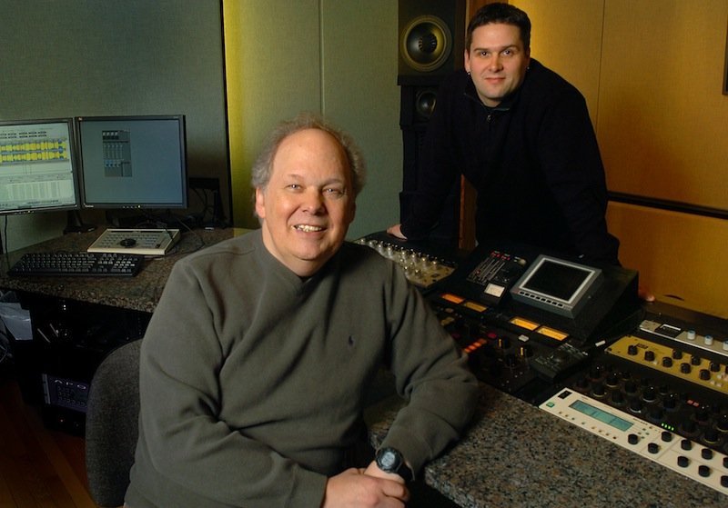This February 2006 photo shows Bob Ludwig and Adam Ayan, right, mastering engineers in the recording industry, whose Gateway Studios list clients like Bruce Springsteen and Eric Clapton. With Grammy Award nominations being released on Thursday, Dec. 6, 2012, the duo once again showed they have the magic touch. Doug Jones