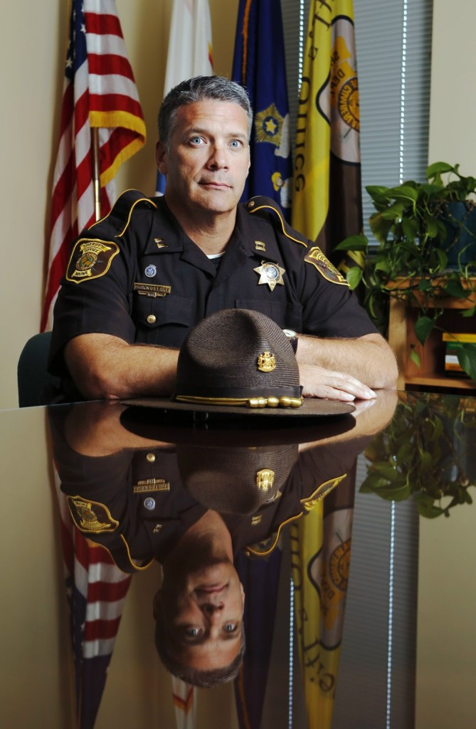 """Officer Shawn O'Leary, now a captain with the Cumberland County Sheriff's Office, shot and killed a man in 1997 while serving with the Brunswick Police Department. On having to shoot someone, he says: """"You don't want it to happen. It is a pretty hard thing to go through."""""""