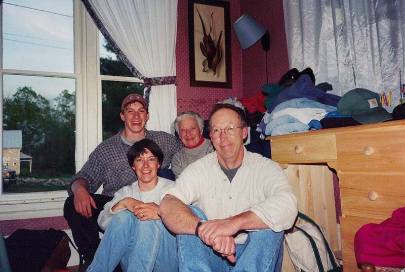 Members of the Bruce family posed for this photo in their Caratunk home several years before Willy Bruce killed his mother in a psychotic rage in 2006. Amy and Joe Bruce are seated in front, with Willy Bruce and Amy's mother, Gladys, behind.