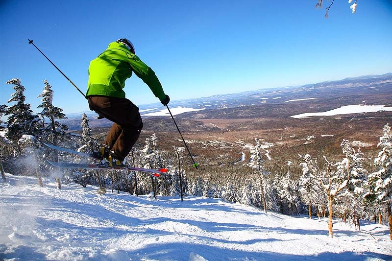"""Saddleback's 44-acre glade called """"Casablanca"""" along with more than five miles of black- and double-black diamond terrain is considered the largest section of top-to-bottom expert terrain east of the Mississippi."""
