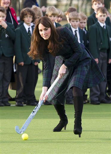 Just a few days ago, Kate, the Duchess of Cambridge, played hockey during her visit to St. Andrew's School, which she attended from 1986 to 1995, in Pangbourne, England.