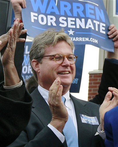 Edward M. Kennedy Jr., son of late U.S. Sen. Edward M. Kennedy, applauds during a campaign event in Boston In this Nov. 5, 2012, photo.