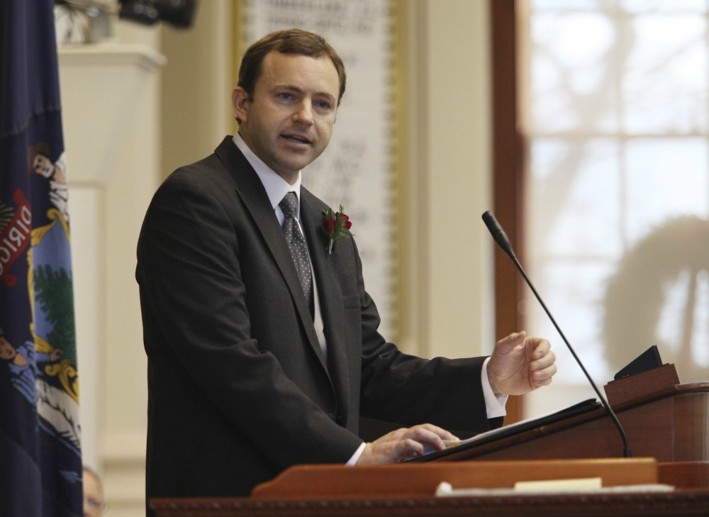 Newly-elected Maine Speaker of the House Mark Eves of North Berwick (AP Photo/Joel Page).