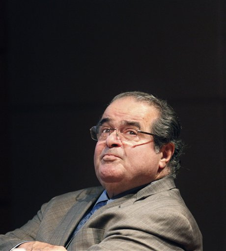 U.S. Supreme Court Justice Antonin Scalia found himself defending his legal writings that some found offensive and anti-gay.