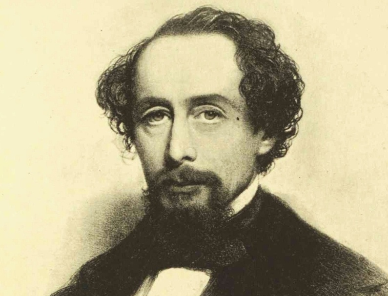 """Charles Dickens drew more than 1,200 people to Portland's old City Hall Auditorium to hear him read from his """"A Christmas Carol"""" in March 1868."""