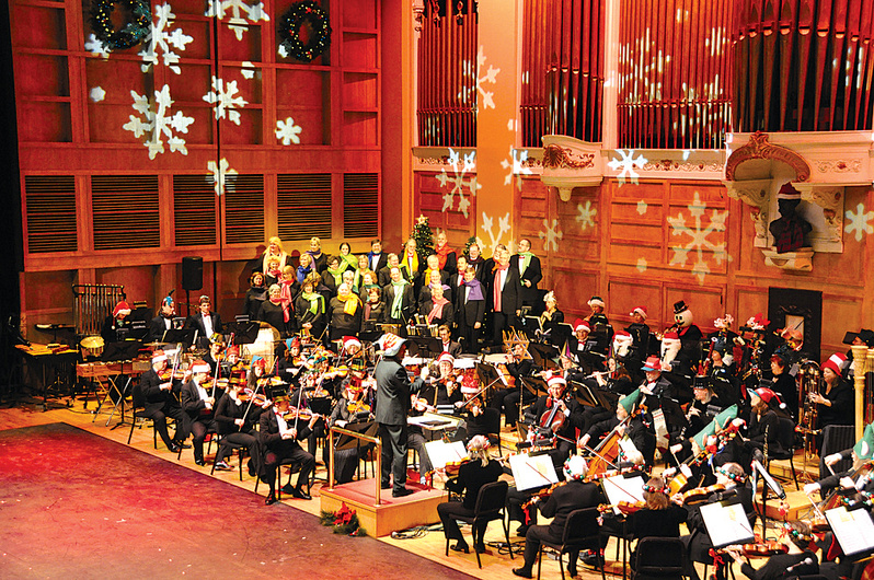 """Conductor Robert Moody and the Portland Symphony Orchestra will perform """"Magic of Christmas"""" a dozen times beginning Friday at Merrill Auditorium."""